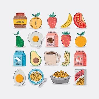 Bons itens de café da manhã