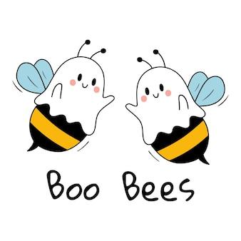Boo bees engraçado dia das bruxas feliz dia das bruxas