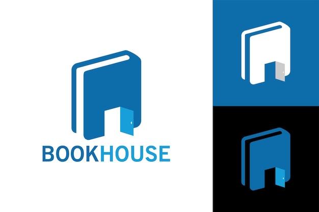 Book house logo template vector premium