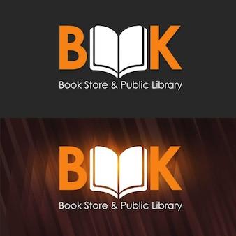 Book store e biblioteca pública de modelo de logotipo