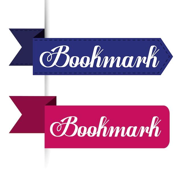 Bookmark ilustração dos ícones