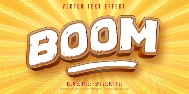 Boom text, efeito de texto editável de estilo de jogo
