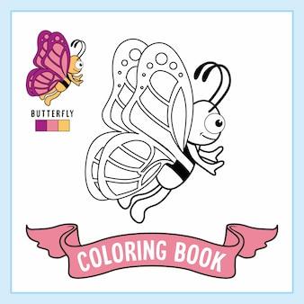 Borboleta animais para colorir livro