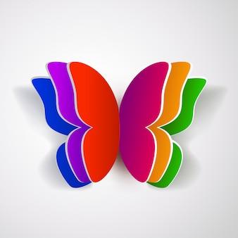 Borboleta de papel colorido