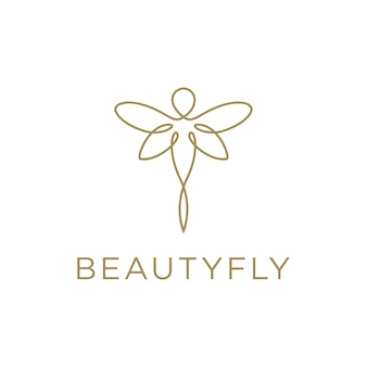 Borboleta fly minimalista logotipo bonito e elegante de arte de linha