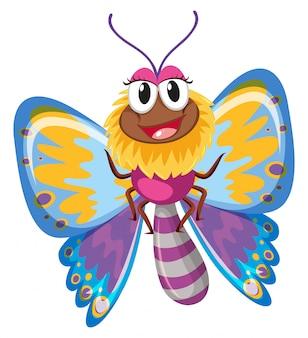 Borboleta fofa com asas coloridas