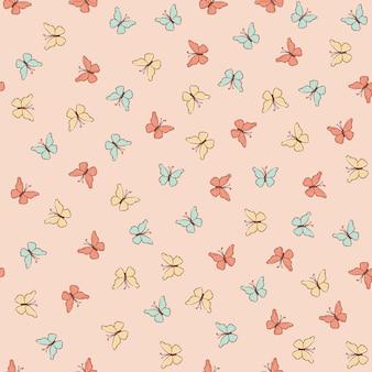 Borboleta papel summer seamless pattern