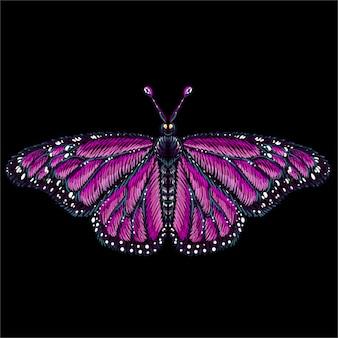 Borboleta para tatuagem ou design de camiseta ou roupa interior. borboleta bonito estilo de impressão.