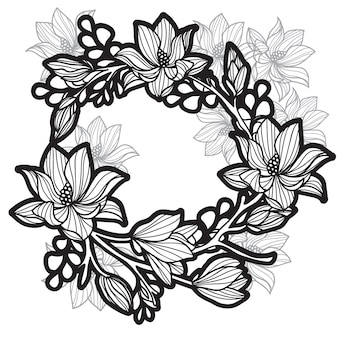 Borboletas de flor de tatuagem