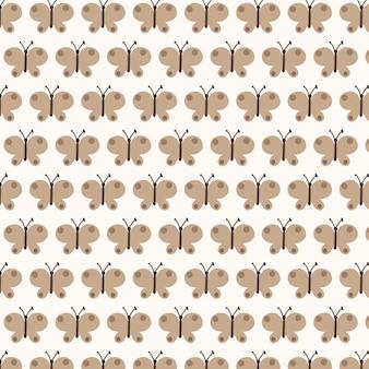 Borboletas vetoriais sem costura padrão de fundo coleção entomológica de borboletas