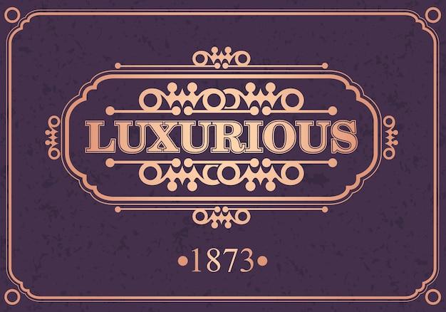 Borda caligráfica luxuosa