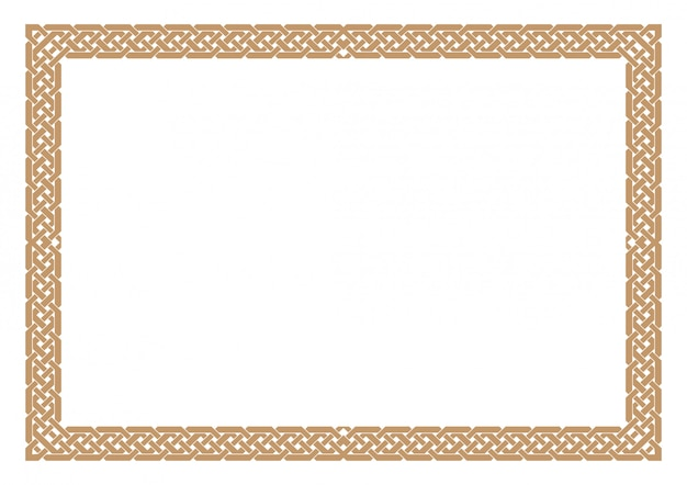 Borda de certificado em branco, pronta para adicionar texto, na cor ouro