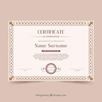 Borda de certificado ornamental