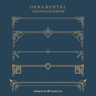 Borda de certificado ornamental