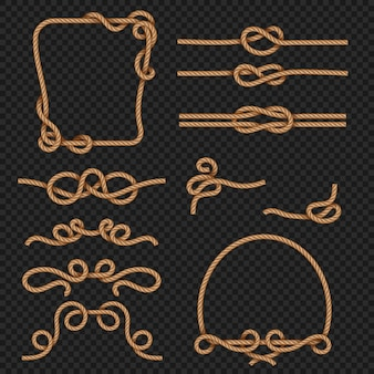 Borda de corda e conjunto de quadros