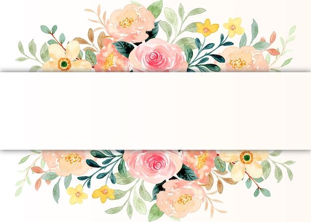 Borda de flor com aquarela