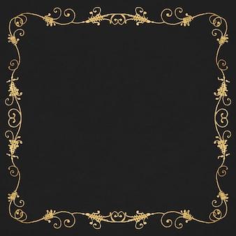 Borda de moldura de filigrana de ouro