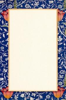Borda de moldura ornamental antiga william morris