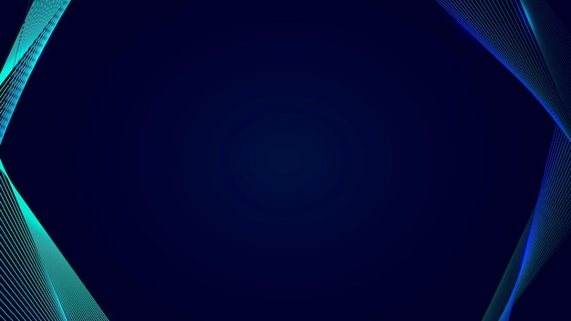Borda de neon synthwave em vetor de modelo de banner de blog em azul escuro