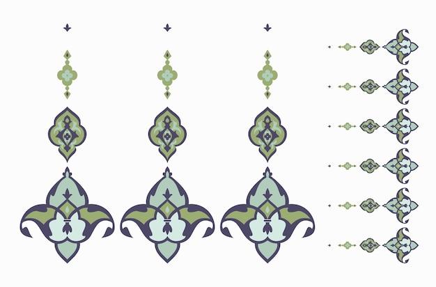 Borda de ornamento oriental para páginas. padrão do islã em fundo branco. ilustração vetorial.