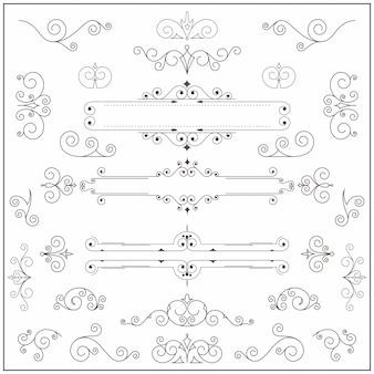 Borda de ornamento vintage, divisória ou quadro. estilo vitoriano antigo