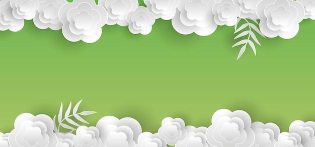 Borda de papel floral