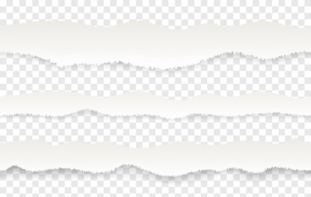Borda de papel rasgado. padrão sem emenda realista de páginas irregulares ou rasgadas.