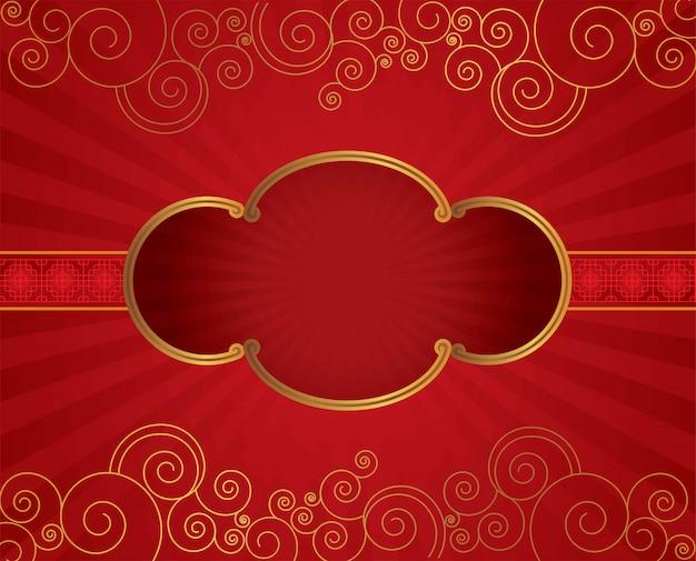 Borda de quadro floral chinesa