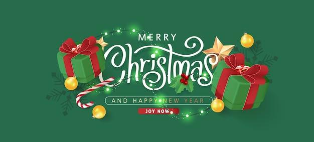 Borda decorativa de natal feita de fundo de elementos festivos.