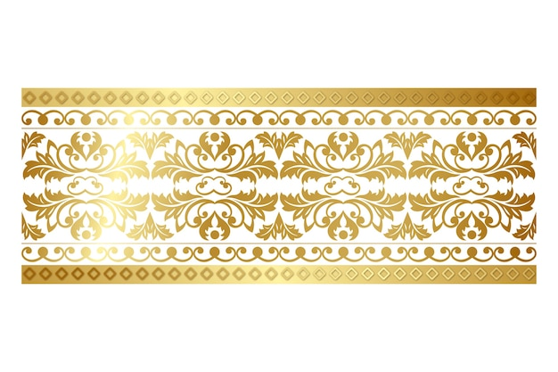 Borda decorativa ornamental
