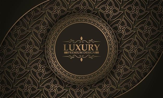 Borda do círculo de luxo premium