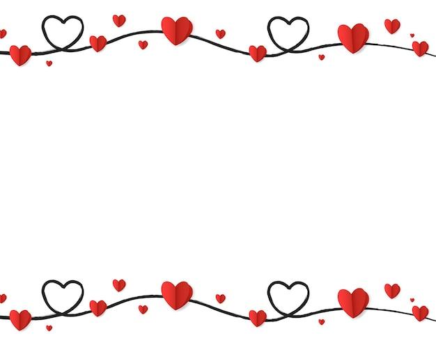 Borda dos corações para o dia dos namorados