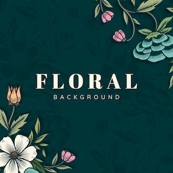 Borda floral com espaço de cópia