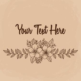 Borda floral com estilo desenhado ou esboçado de mão. melhor uso para convites de casamento