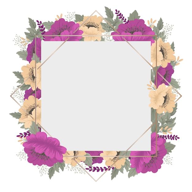 Borda floral de flor vintage