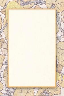 Borda floral de vetor de moldura ornamental antiga