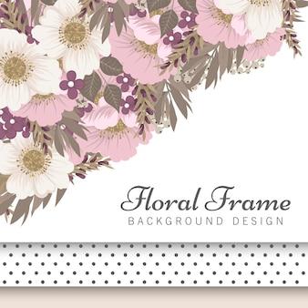 Borda floral fundo - borda de flor rosa