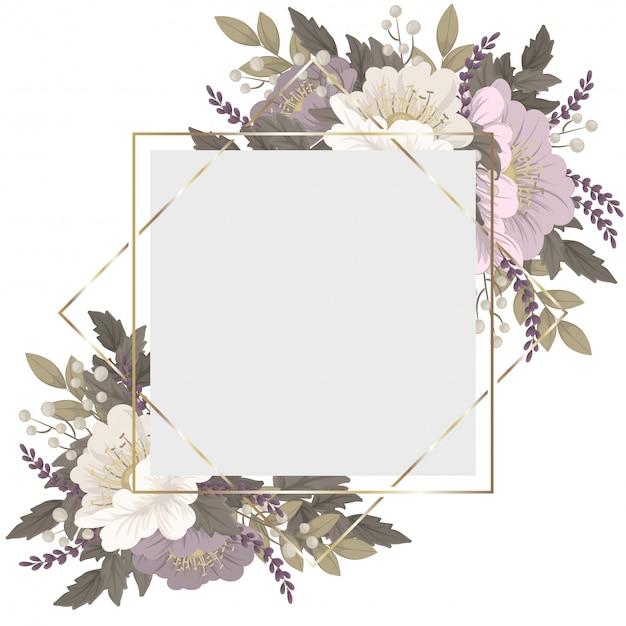 Borda floral rosa e branca