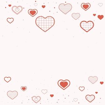 Borda fofa decorada com corações
