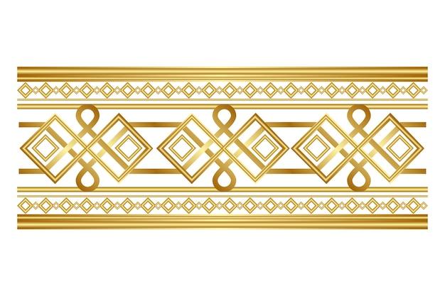 Borda ornamental de luxo dourado