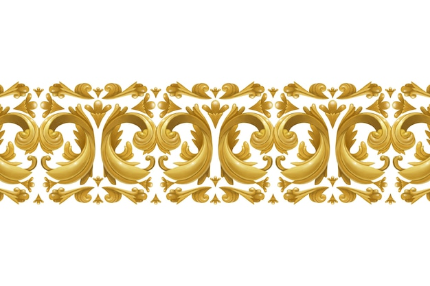 Borda ornamental dourada