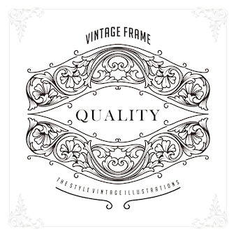 Borda perfeita de luxo premium para identidade e convite