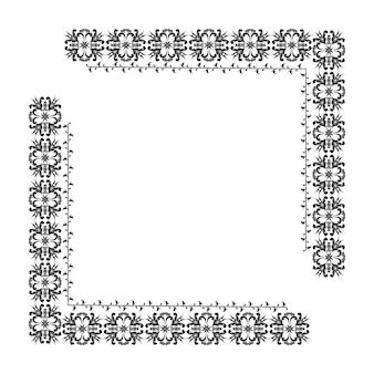 Borda vetorial com um padrão floral para o desenho de molduras, menus, convites de casamento gr digital