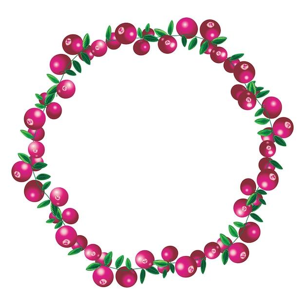 Borda vetorial de cranberry