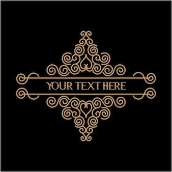 Borda vintage caixa de texto premium psd