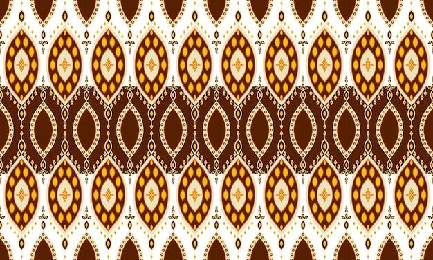 Bordado de padrão étnico geométrico .carpet, papel de parede, roupas, embrulho, batik, tecido, estilo de bordado de ilustração vetorial.