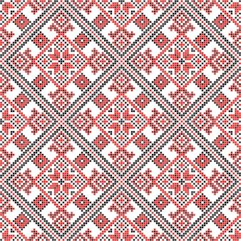 Bordado. decoração de ornamento nacional ucraniano. ilustração vetorial