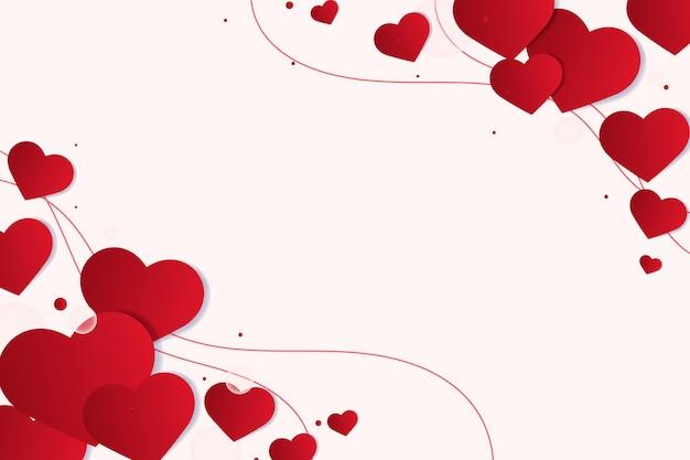Bordas de coração vermelho
