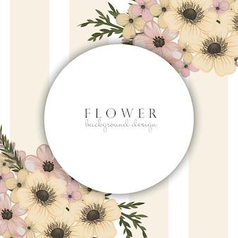 Bordas de flor do círculo