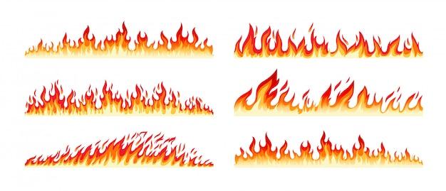Bordas de fogo em branco